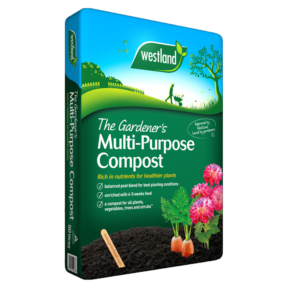 BUY 4 BAGS OF WESTLAND 50 LITRE MULTI PURPOSE COMPOST FOR ONLY £12 INC VAT!