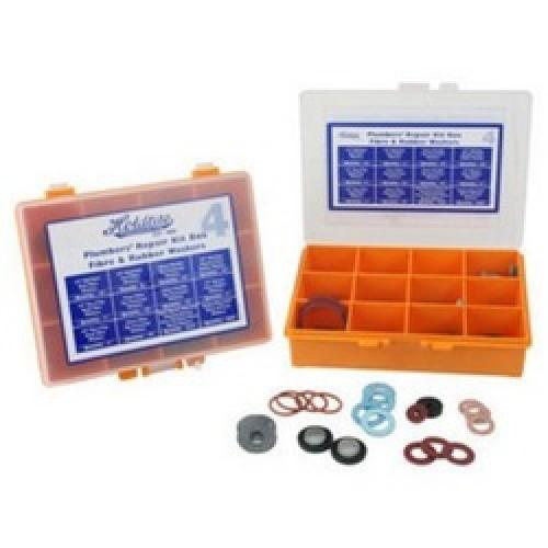 PLUMBERS WASHER KIT BOX NO 4 FIBRE AND RUBBER - Twiggs