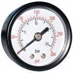 "PRESSURE GAUGE 0 - 200 PSI     100MM DIA 3/8"" BSP"