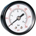 "PRESSURE GAUGE 0 - 30 PSI      100MM DIA 3/8"" BSP"