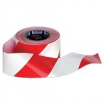 TAPE HAZARD WARNING RED WHITE  72MM X 500M BTR