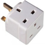 SOCKET OUTLET ADAPTOR 2 WAY