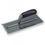 TILERS TROWEL NO. 319 RAGNI    CARBON STEEL 4.5 X 9MM NOTCH