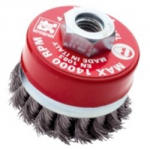 CRIMPED WIRE CUP BRUSH 120MM   M14 0147 SIT