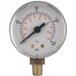 "ABS PRESSURE GAUGE 0 - 160 PSI 100MM DIA 3/8"" BSP"