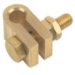 "CLAMP FOR EARTH ROD 3/8""       BRASS"