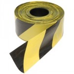 TAPE HAZARD WARNING BLACK      YELLOW 72MM X 500M