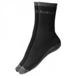WORK SOCKS PACK OF 2 THERMAL   BLACK DCK-00011 DICKIE