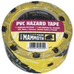 ADHESIVE HAZARD WARNING TAPE YELLOW/BLACK 50MM X 33M
