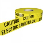 UNDERGROUND WARNING TAPE ELECTRIC 150MM X 365M