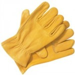 LINED LEATHER DRIVERS GLOVES GOLD SIZE 10 PREDATOR