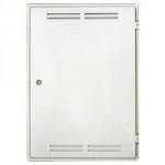 GAS METER BOX WHITE RECESSED   (VENTED)