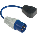 FLY LEAD ADAPTOR SINGLE SOCKET 16A TO 13A 240V R55