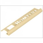TILE TRIM IVORY 2.44M X 9MM      TE571