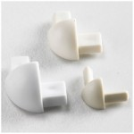 TILE EDGE CORNER WHITE 9.5MM   NDE655