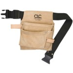 LEATHER NAIL & TOOL POUCH WITH 3 POCKETS IP-489X