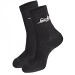 SOCKS BLACK 9204 TWIN PACK     SNICKERS