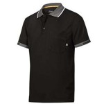 POLO SHIRT LARGE BLACK 37.5 TECH 2724 0400 SNICKERS