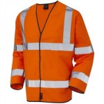 WAISTCOAT LARGE ORANGE HI VIS  SLEEVED CLASS 2 EN471